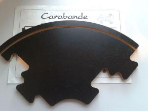 Carabande - Kurve - Streckenteil - Goldsieber